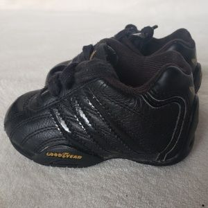 Adidas Goodyear solid Black with Gold Shoes